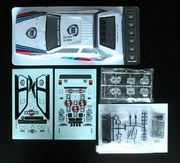 Lancia Delta S4 factory painted body with Martini decal sheet