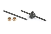 Ninco axle set 49mm, with 24th rear crown gear