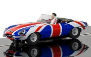 Scalextric Jaguar E-type Union Jack 1/32
