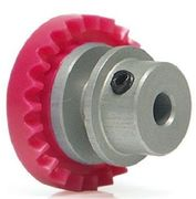 In Line Crown gear 23 teeth aluminium hub