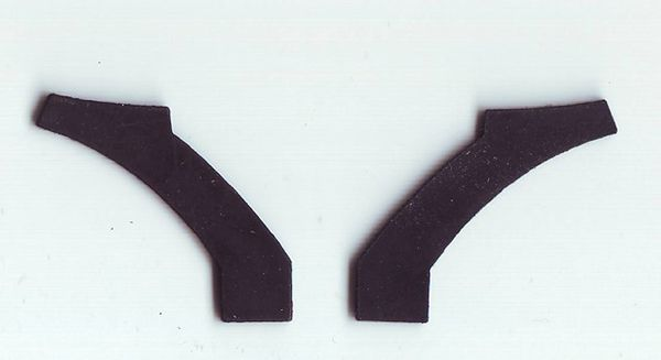 Audi R8 LMS 1/24 rear wing rubber mountings