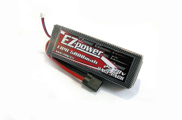 Battery 7,4V 5000mAh 40C LiPo Hardcase with Traxxas-connector