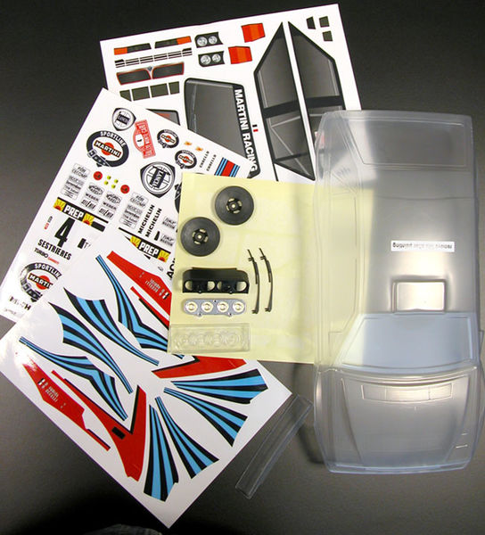 Lancia Delta Integrale 1992 clear body with Martini decal sheet