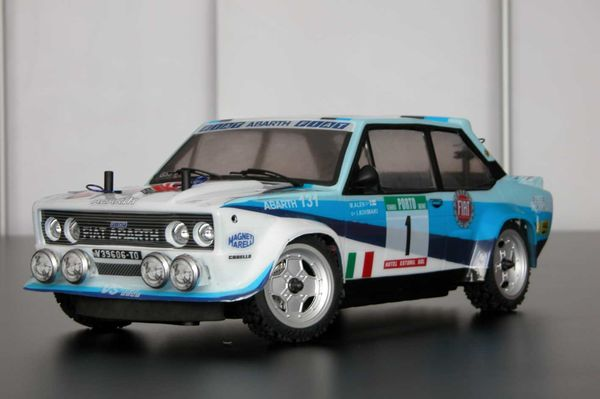 Fiat 131 rally factory painted body set with decal sheet