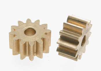 Pinion 12 th, brass, 2pcs