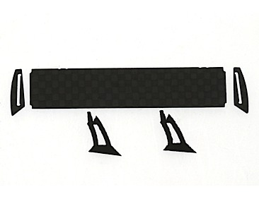 MB SLS 1/32 carbon rear spoiler with rubber mountings