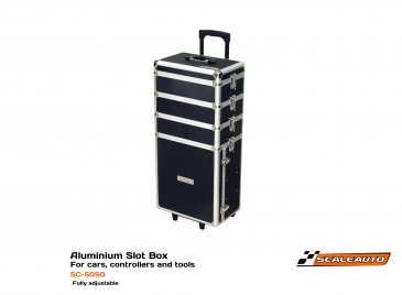 Aluminium racing storage box 37x25x80cm 4-parts