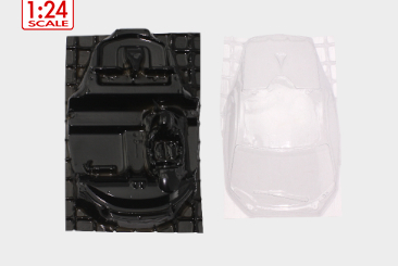 Scaleauto 1/24 Viper GTS-R lexan glasses and interior
