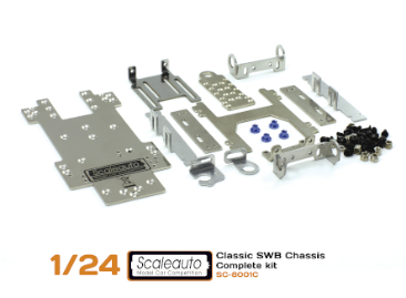 Chassis kit Scaleauto SC-8001C SWB for 1/24 cars