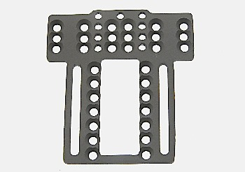 Chassis front plate for Scaleauto SC-8000/MSC-11 chassis