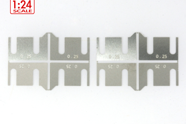 Axle holder shim 0,25mm steel, 8pcs