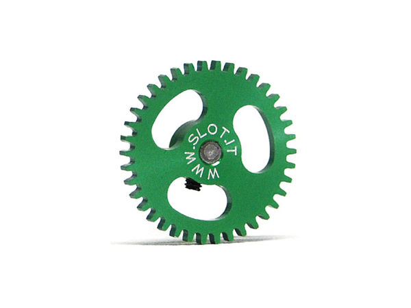 Spur gear 38th Ergal, 19mm diameter, for 2,38mm axle