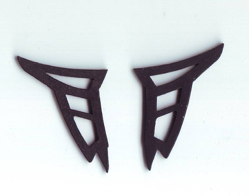 MB SLS 1/24 rear wing rubber mountings