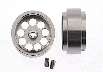 Wheel, aluminium 15,8x8,5mm, 3/32 axle 2pcs