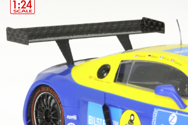 Audi R8 LMS carbon fibre rear spoiler with flexible rubber mountings