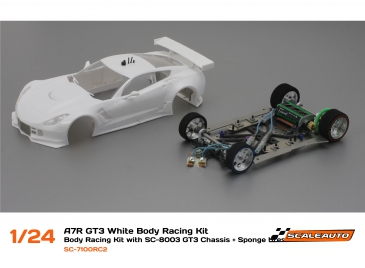 Scaleauto A7R GT3 white body racing kit 1/24