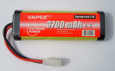 Battery 7,2V 3700mAh Nimh Tamiya-connector