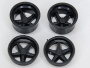 BRM 1/24 Porsche 917K wheel inserts, black 4pcs