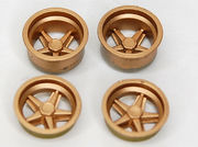 BRM 1/24 Porsche 917K wheel inserts, gold colored 4pcs