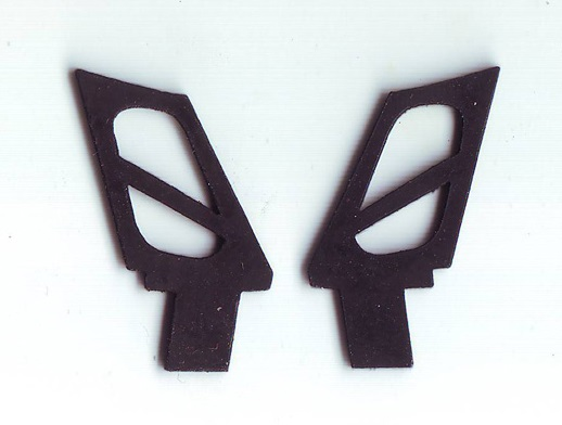 BMW M3 1/24 rear wing rubber mountings