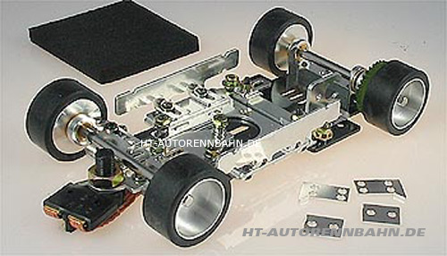 Plafit Super 32 chassis assembled with 3mm axles