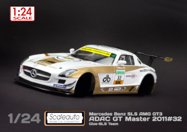 MB SLS GT3 Adac Masters 2011 1/24 painted body kit