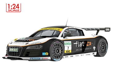 Audi R8 LMS GT3 GT Masters 2011 No7 Flatex 1/24 body set