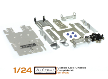 Chassis kit Scaleauto SC-8002C LWB for 1/24 cars