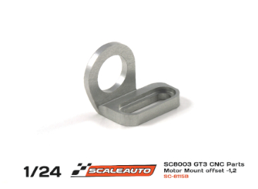 Rear motor mount 13D for Scaleauto 1/24 chassis, new shape