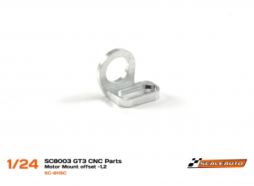 Rear motor mount 13D for Scaleauto 1/24 chassis, offset 1,2mm, new shape
