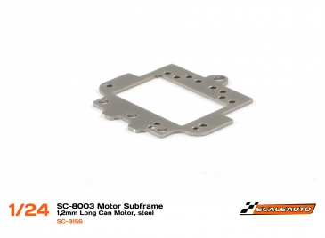 Scaleauto rear suspension plate long can motors, steel, SC-8003 chassis