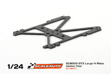 Scaleauto carbon H-plate for chassis SC-8003 GT3, long version